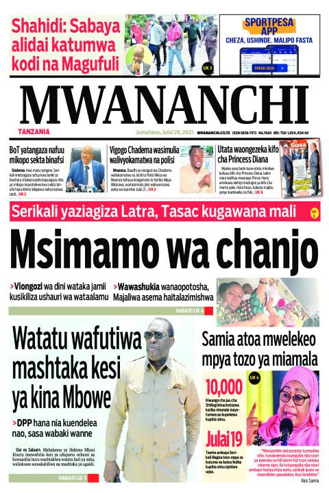 MSIMAMO WA CHANJO    Mwananchi