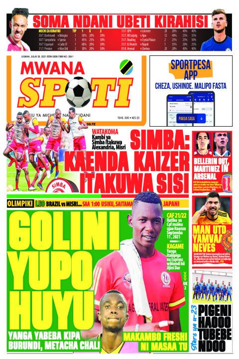 GOLINI YUPO HUYU  | Mwanaspoti
