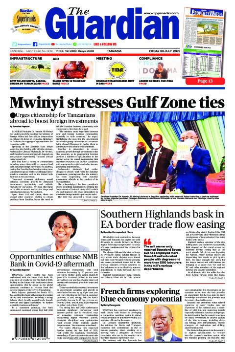 Mwinyi stresses Gulf Zone ties | The Guardian