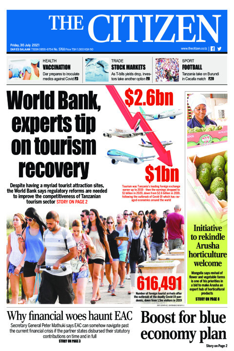 WORLD BANK,EXPERTS TIP ON TOURISM RECOVERY  | The Citizen