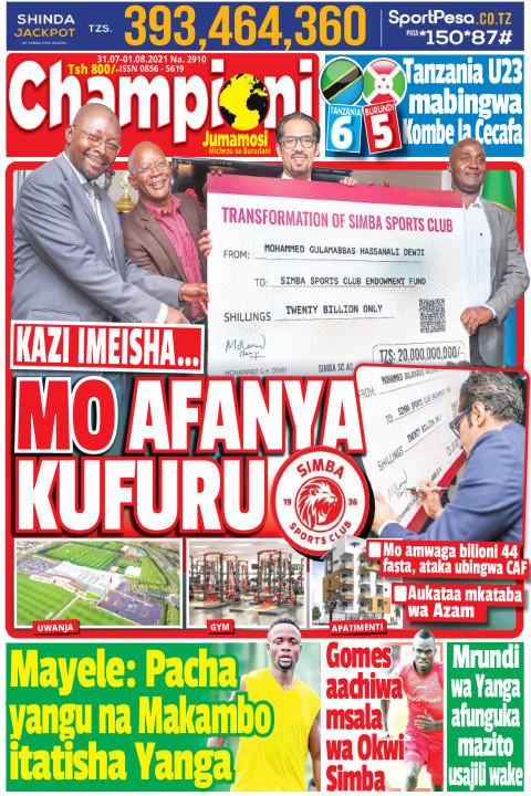 MO AFANYA KUFURU | Champion Jumamosi