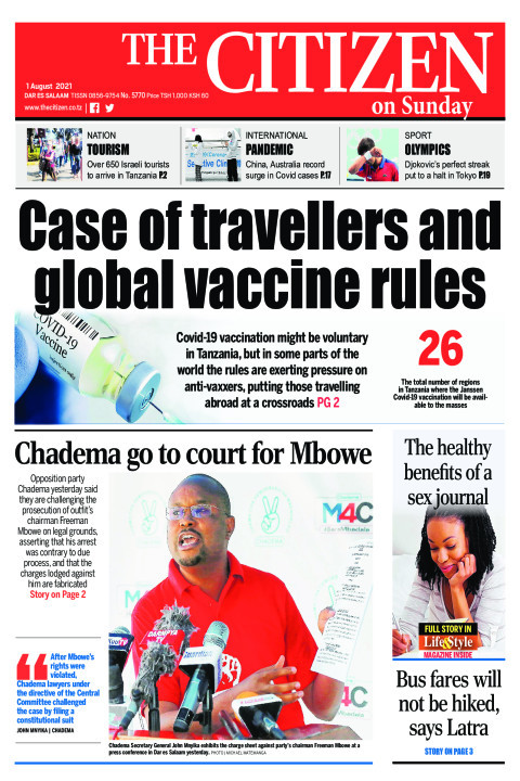 CASE OF TRAVELLERS AND GLOBAL VACCINE RULES  | The Citizen