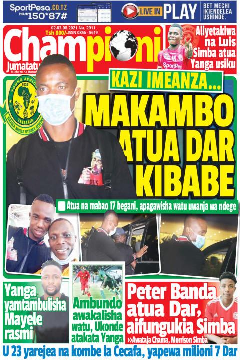 MAKAMBO ATUA DAR KIBABE | Champion Jumatatu
