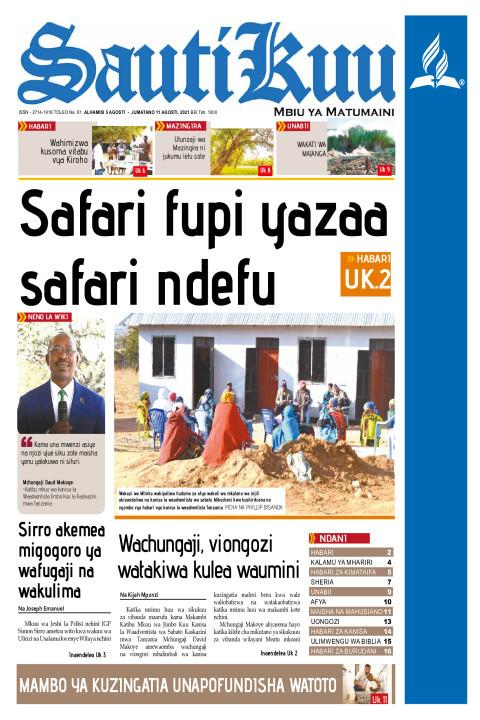 SAFARI FUPI YAZAA SAFARI NDEFU | Sauti Kuu Newspaper