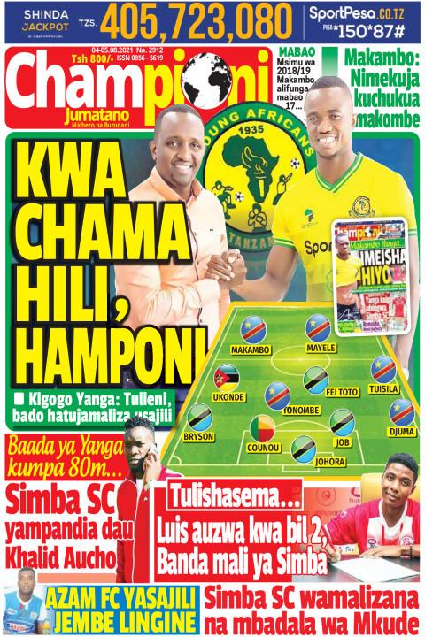 KWA CHAMA HILI, HAMPONI | Champion Jumatano