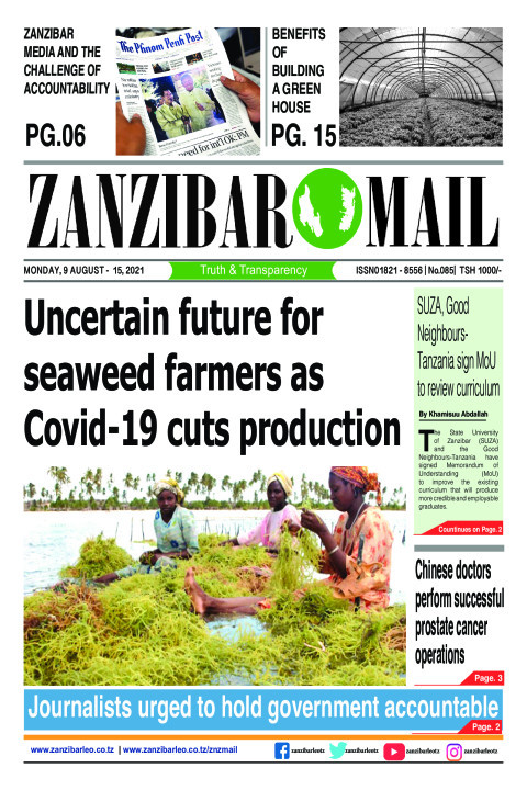 Uncertain future for  seaweed farmers as  Covid-19 cuts pro | ZANZIBAR MAIL