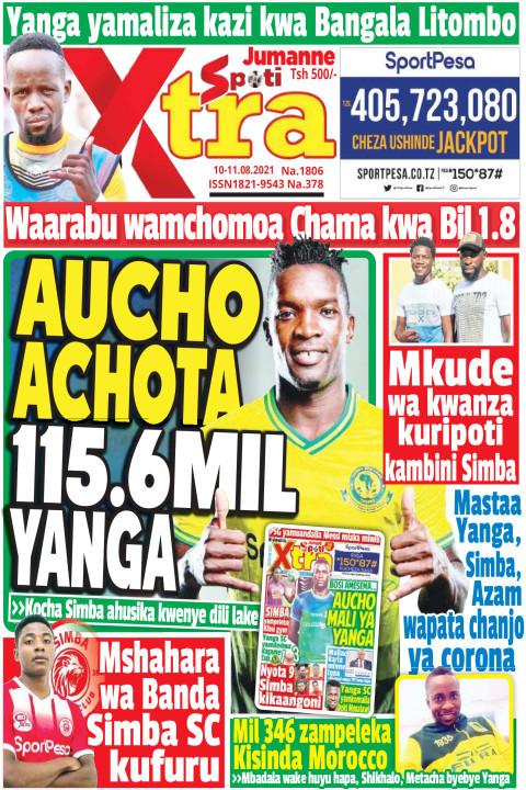 AUCHO  ACHOTA 115.6 MIL YANGA | SpotiXtra Jumanne