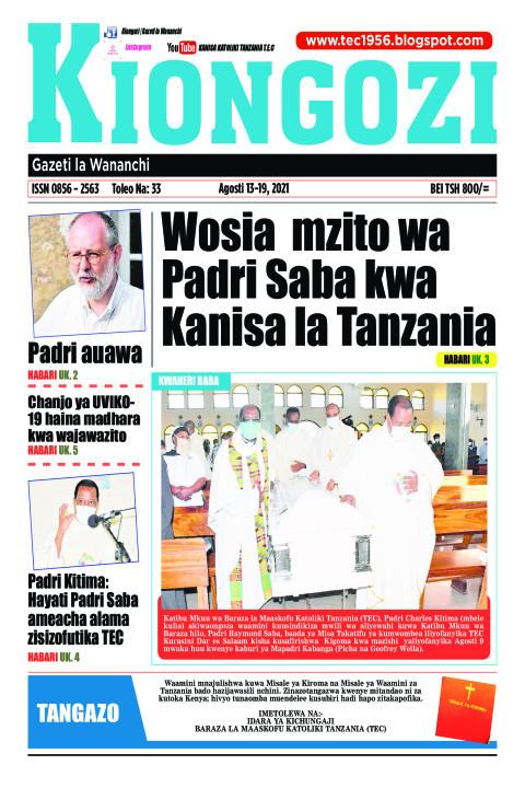 Wosia mzito wa Padri Saba kwa Kanisa la Tanzania | Kiongozi