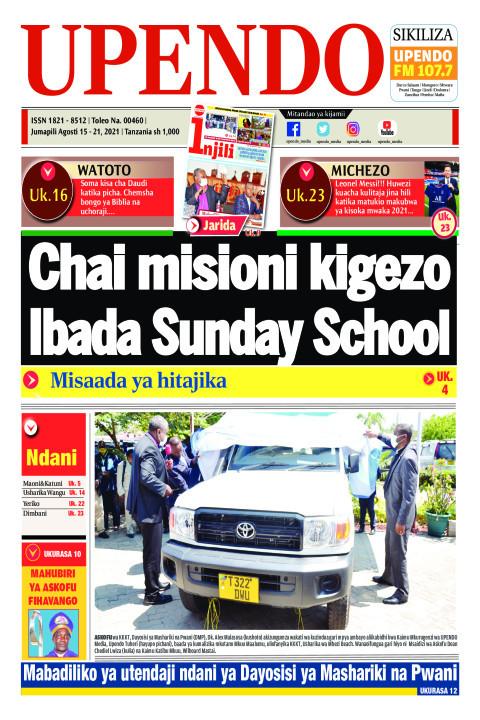 Chai misioni kigezo Ibada Sunday School | Upendo