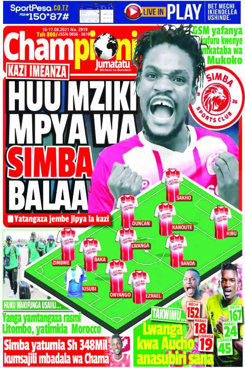 HUU MZIKI MPYA WA SIMBA BALAA | Champion Jumatatu