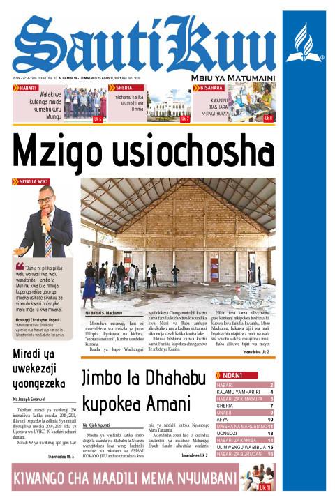 MZIGO USIOCHOSHA | Sauti Kuu Newspaper