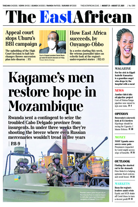 KAGAME'S MEN'S RESTORE HOPE IN MOZAMBIQUE  | The East African