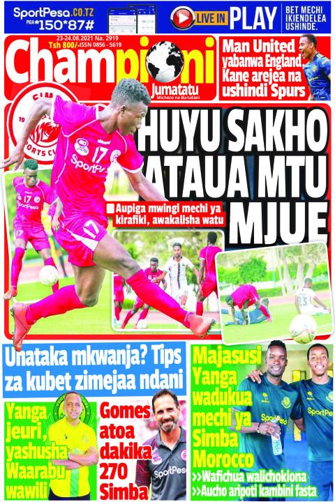 HUYU SAKHO ATAUA MTU MJUE | Champion Jumatatu