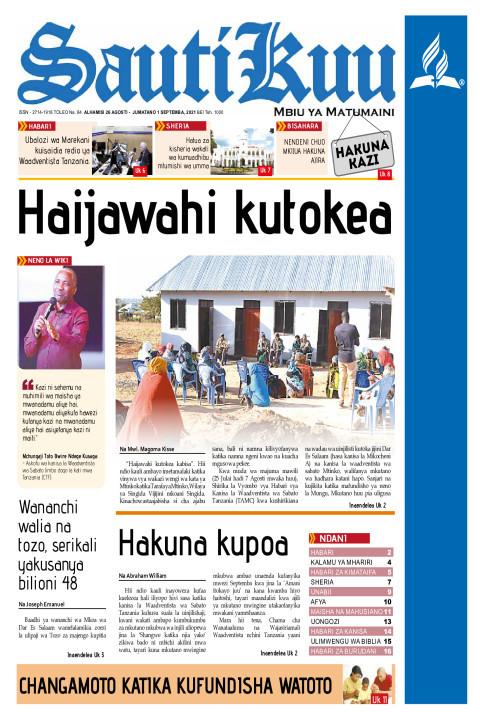 HAIJAWAI KUTOKEA | Sauti Kuu Newspaper