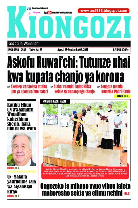 Askofu Ruwai'chi: Tutunze uhai kwa kupata chanjo ya korona | Kiongozi