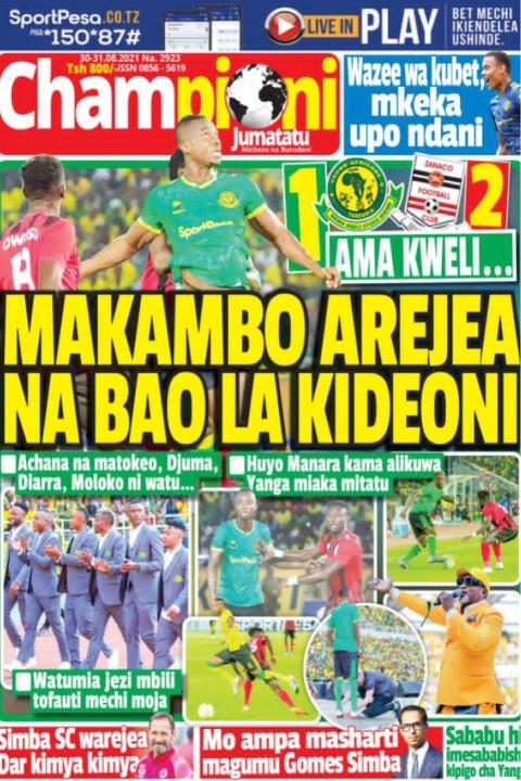 MAKAMBO AREJEA NA BAO LA KIDEONI | Champion Jumatatu