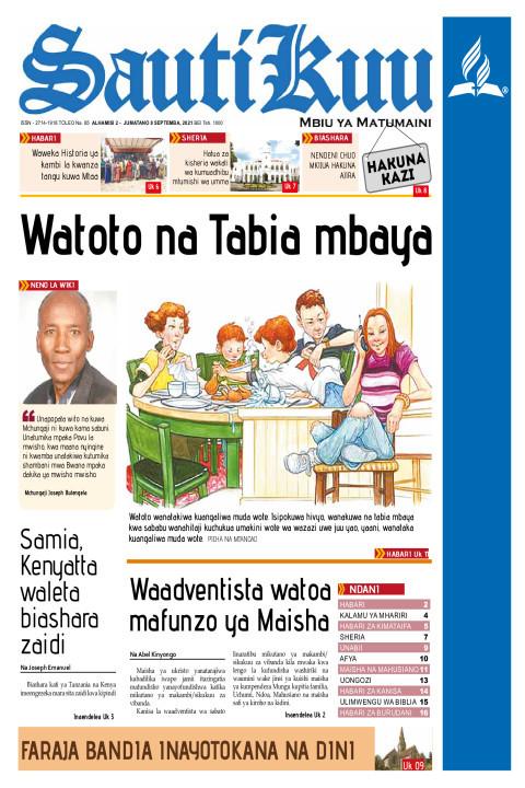 WATOTO NA TABIA MBAYA | Sauti Kuu Newspaper