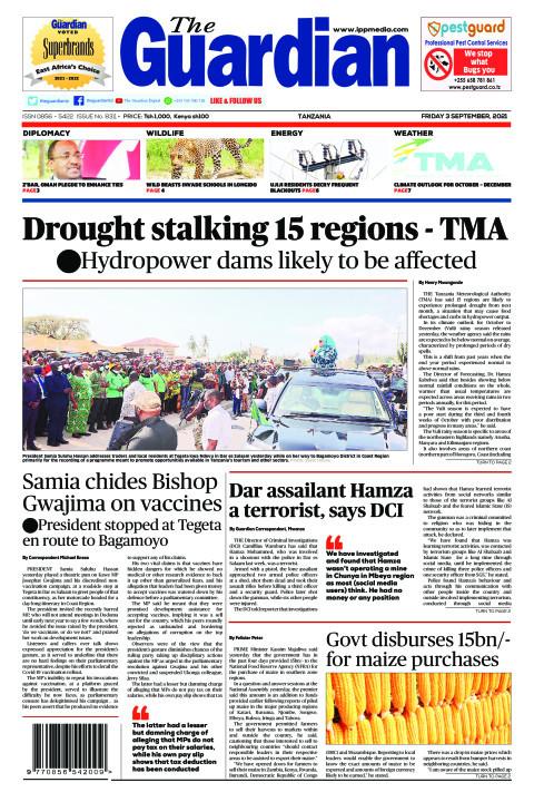 Drought stalking 15 regions - TMA | The Guardian