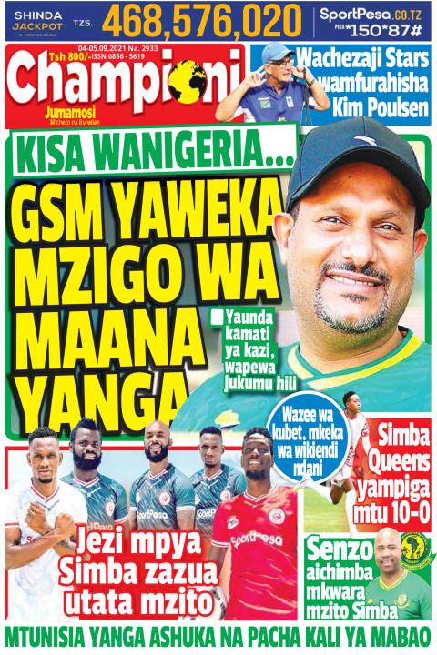 GSM YAWEKA MZIGO WA MAANA YANGA | Champion Jumamosi