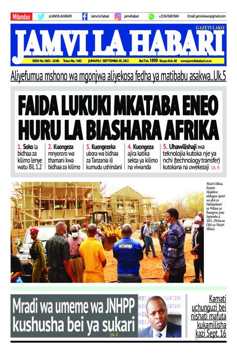 FAIDA LUKUKI MKATABA ENEO HURU LA BIASHARA AFRIKA   Jamvi La Habari