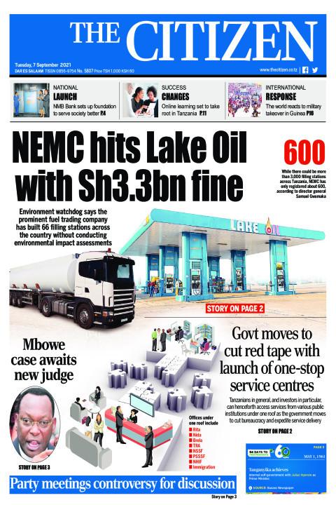 NEMC HITS LAKE OIL WITH SH.3.BN FINE  | The Citizen
