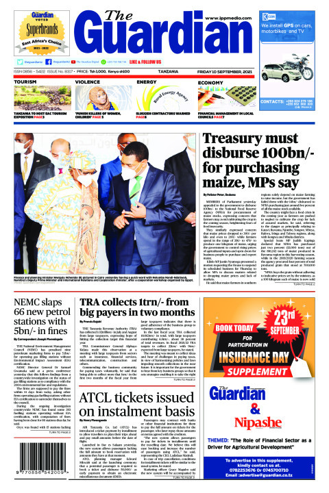 Treasury must disburse 100bn/- for purchasing maize, MPs say | The Guardian