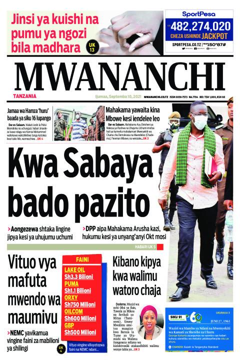 KWA SABAYA BADO PAZITO  | Mwananchi