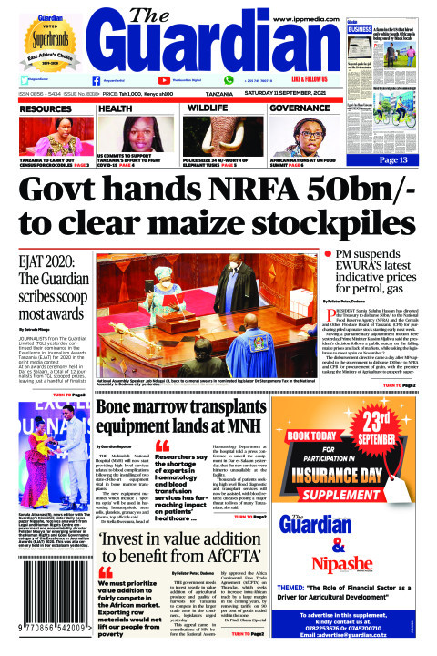 Govt hands NRFA 50bn/- to clear maize stockpiles | The Guardian