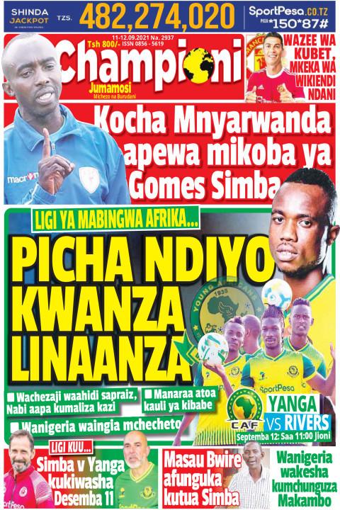 PICHA NDIYO KWANZA LINAANZA | Champion Jumamosi