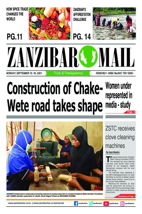 Construction of Chake-Wete road takes shape  | ZANZIBAR MAIL