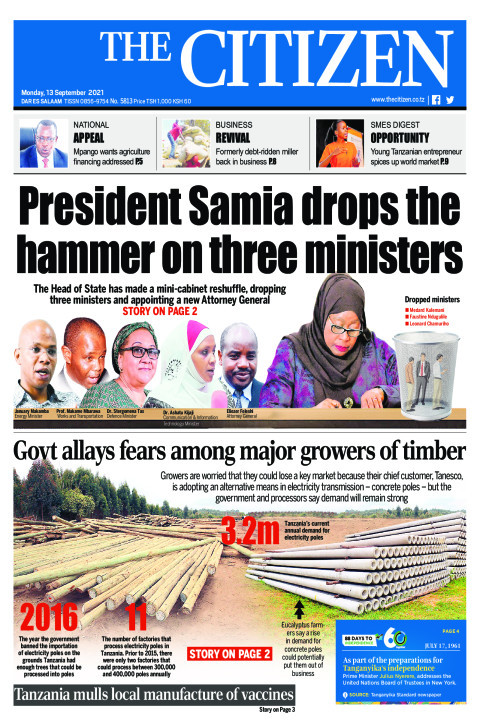 President Samia drops the  hammer on three ministers | The Citizen