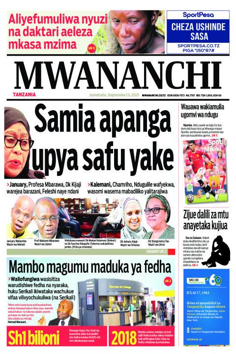 Samia apanga  upya safu yake | Mwananchi