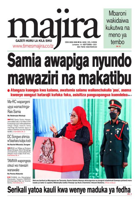 Samia awapiga nyundo mawaziri na makatibu | MAJIRA
