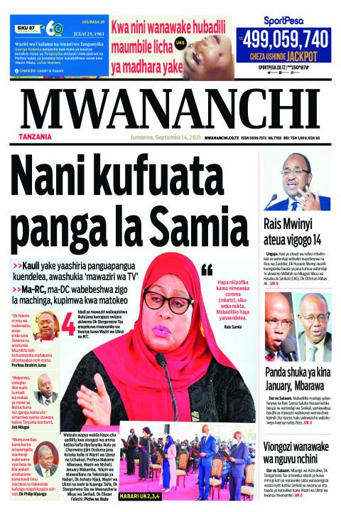 NANI KUFUATA PANGA LA SAMIA  | Mwananchi