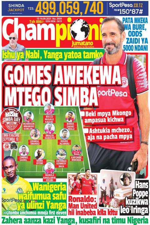 GOMES AWEKEWA MTEGO SIMBA | Champion Jumatano