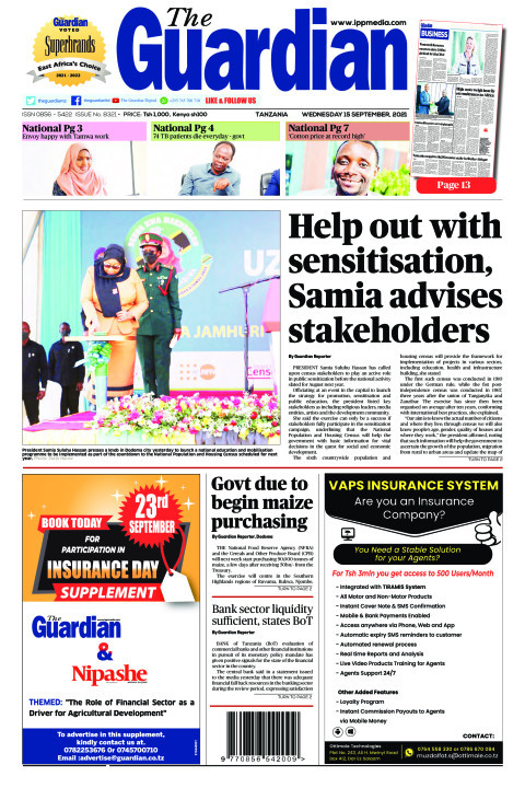 Help out with sensitisation, Samia advises stakeholders | The Guardian