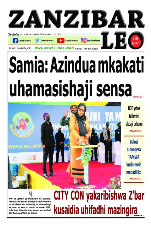 Samia: Azindua mkakati uhamasishaji sensa | ZANZIBAR LEO