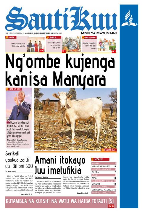 NG'OMBE KUJENGA KANISA MANYARA | Sauti Kuu Newspaper
