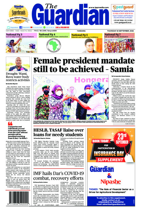 Female president mandate still to be achieved – Samia | The Guardian