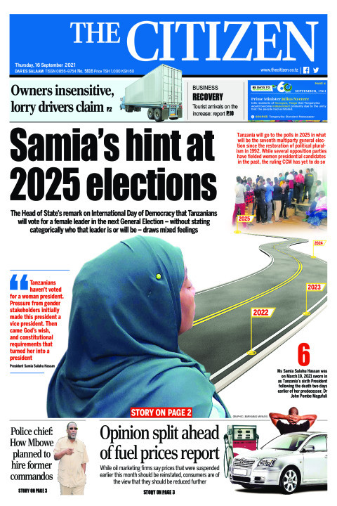 SAMIA'S HINT AT 2025 ELECTIONS  | The Citizen