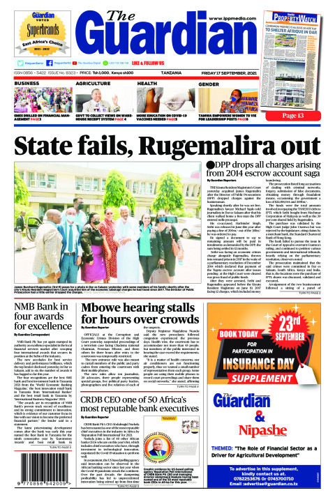State fails, Rugemalira out | The Guardian
