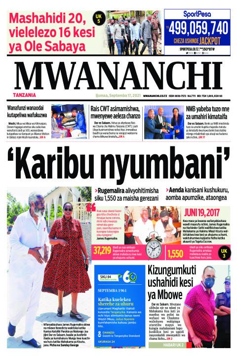 KARIBU NYUMBANI  | Mwananchi