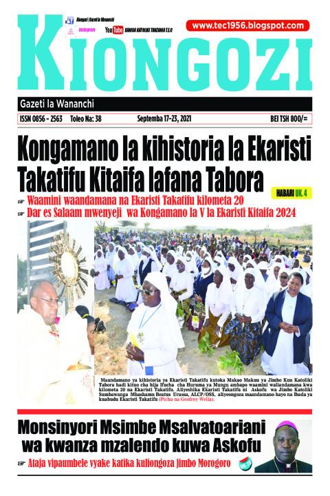Kongamano la kihistoria la Ekaristi  Takatifu Kitaifa lafan | Kiongozi