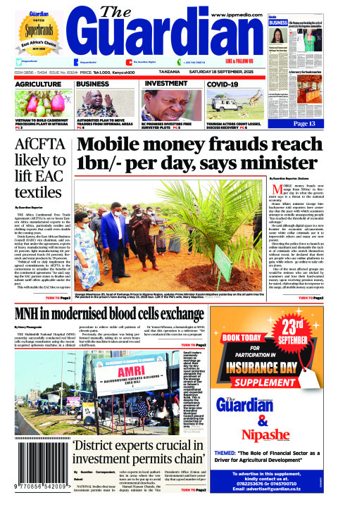 Mobile money frauds reach 1bn/- per day, says minister | The Guardian