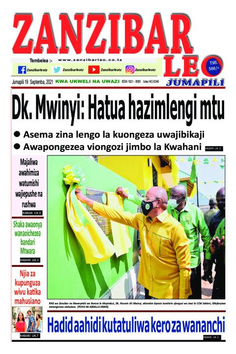 Dk. Mwinyi: Hatua hazimlengi mtu | ZANZIBAR LEO
