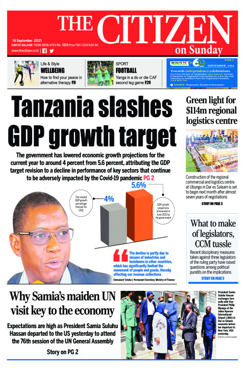 TANZANIA SLASHES GDP GROWTH TARGET    The Citizen