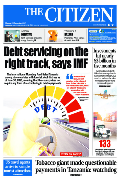 DEBT SERVICING ON THE RIGHT TRACK,SAYS IMF  | The Citizen