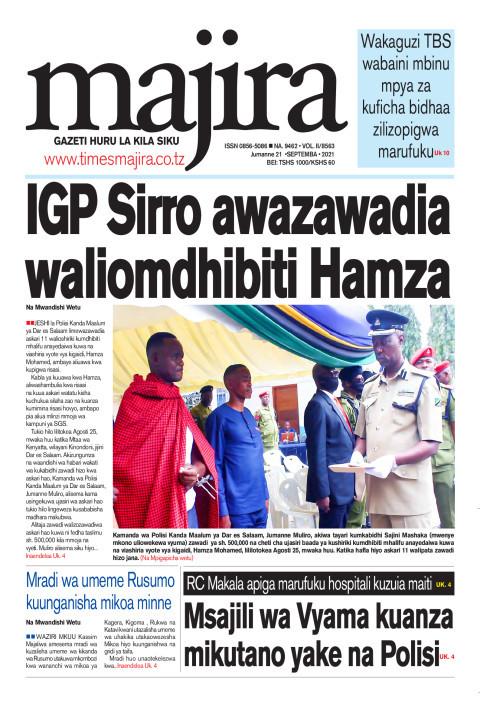 IGP Sirro awazawadia waliomdhibiti Hamza | MAJIRA
