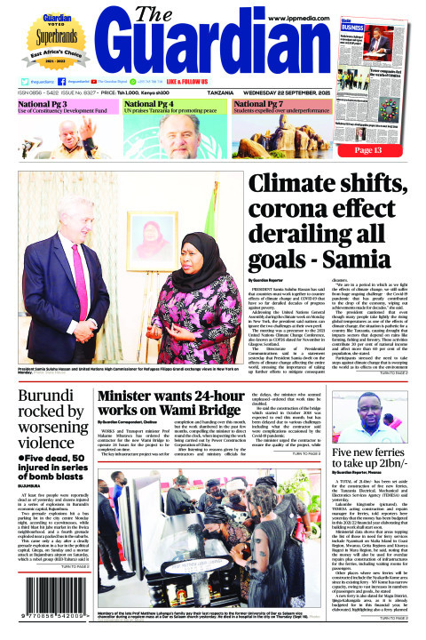Climate shifts, corona effect derailing all goals - Samia | The Guardian