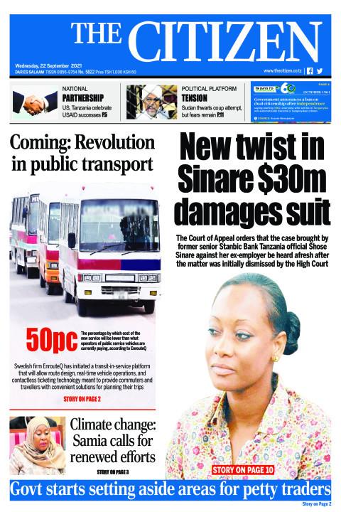 NEW TWIST IN SINARE $30M DAMAGES SUIT    The Citizen
